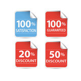 Sale stickers set Royalty Free Stock Photography