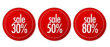Sale stickers set Royalty Free Stock Photos