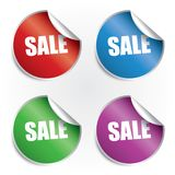 Sale stickers set Royalty Free Stock Photo