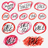 Sale stickers set on white Stock Photo