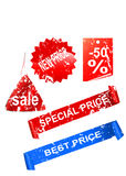 sale stickers and tags Stock Image