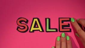 `Sale` Stop Motion Clip stock video