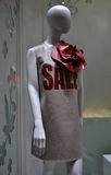Sale in store window Stock Photo