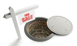 For sale street manhole open Royalty Free Stock Image