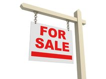 For Sale street road Sign Royalty Free Stock Photos