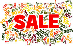 SALE surrounded by discounts Stock Images