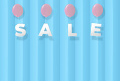 Sale sweet  template on blue backgrounds for banner or poster ve Stock Photos