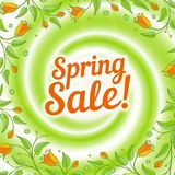 Sale swirl. Spring background. Stock Photo