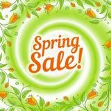 Sale swirl. Spring background. Stock Photo