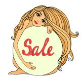 Sale symbol, badge template Royalty Free Stock Image