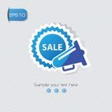Sale symbol,. Design,blue concept Stock Image