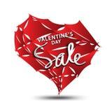 Sale symbol, hjärtapolygonvektor, klistermärke, etikett, knappar, etiketter, befordranbaner, marknadsföring, designbeståndsdelar  royaltyfri illustrationer
