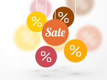 Sale symbol percent discounts and icon on a background Royalty Free Stock Image