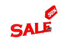 Sale. Symbol red of sale Royalty Free Stock Photo