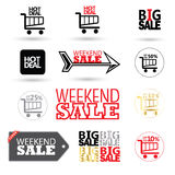 Sale symbols set royalty free illustration