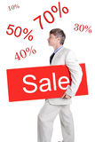 Sale table Royalty Free Stock Photo