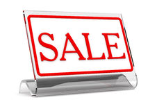 Sale - tablet on a table. Image tablet Sale can be used as a thematic Illustration or background Royalty Free Stock Photography