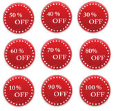 Sale tag. Vector sale tag stickers with discount Royalty Free Stock Photos