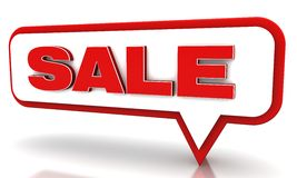 Sale Tag. 3d illustration discounts and sales tag Royalty Free Stock Photography