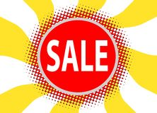 Sale tag on abstract background Royalty Free Stock Photography