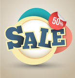 SALE tag banner for promotion Stock Images