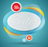 Sale tag banner for promotion Royalty Free Stock Images