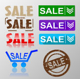 Sale tag banner set Stock Image
