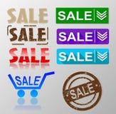 Sale tag banner set Stock Image