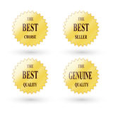 Best choice  label. Best choice golden label on white background Stock Images