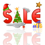 Sale tag for christmas Stock Image