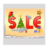 Sale tag for christmas Royalty Free Stock Photos