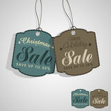 Sale tag for Christmas celebration. Royalty Free Stock Image