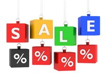 Sale tag colored cubes Stock Photography