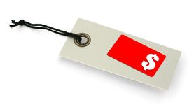 Sale tag with copy space Royalty Free Stock Photos