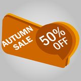 Sale tag, discount sign. 50 percentage sign. Vector illustration. Sale tag, discount sign. 50 percentage sign. Vector royalty free illustration