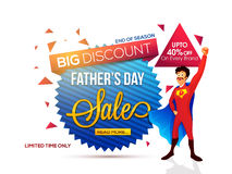 Sale Tag for Father's Day celebration. Royalty Free Stock Photo