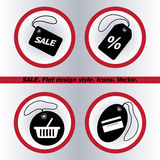 SALE tag icon, vector illustration. Flat design Stock Photos