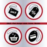 SALE tag icon, vector illustration. Flat design Stock Photos