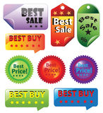 Sale Tag Icons Set Royalty Free Stock Photos