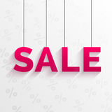 Sale tag illustration. Flat style design. Stock Images