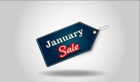 Sale tag. January sale tag, dark blue color stock illustration