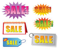 Sale tag and label. Vector set Stock Image