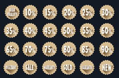 Sale tag label sets Royalty Free Stock Photography