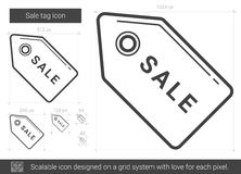Sale tag line icon. Stock Images