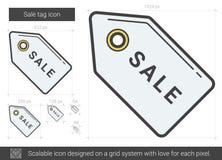 Sale tag line icon. Stock Image