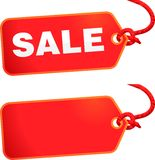 Sale tag. Nice simple sale tag with string Royalty Free Stock Images