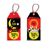 Sale tag night day. Graphic Stock Photo
