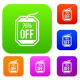 Sale tag 75 percent off set collection Stock Photography