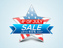 Sale Tag, Poster or Banner for 4th of July. Royalty Free Stock Images