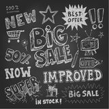 Sale tag and pricing doodles Royalty Free Stock Image